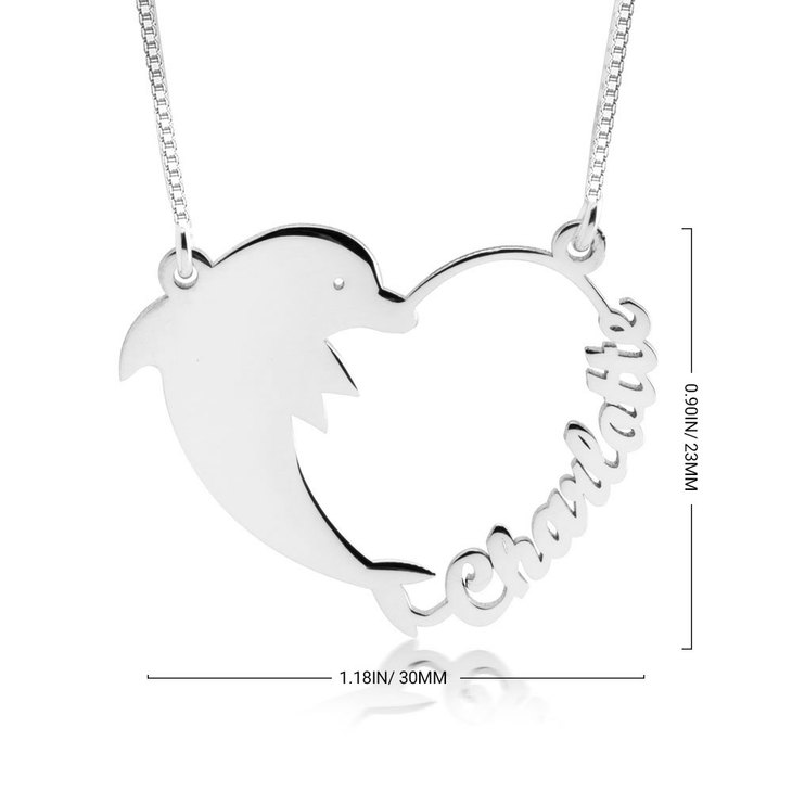 Dolphin Heart Necklace - Information