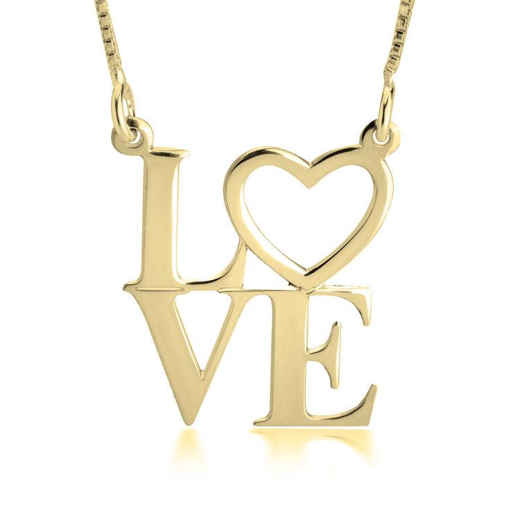 Collier Pendentif Love
