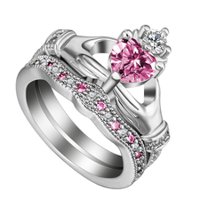 Pink Claddagh Ring