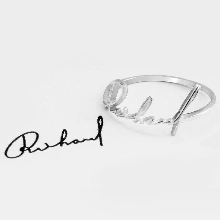 Personalised Signature Ring - Picture 2