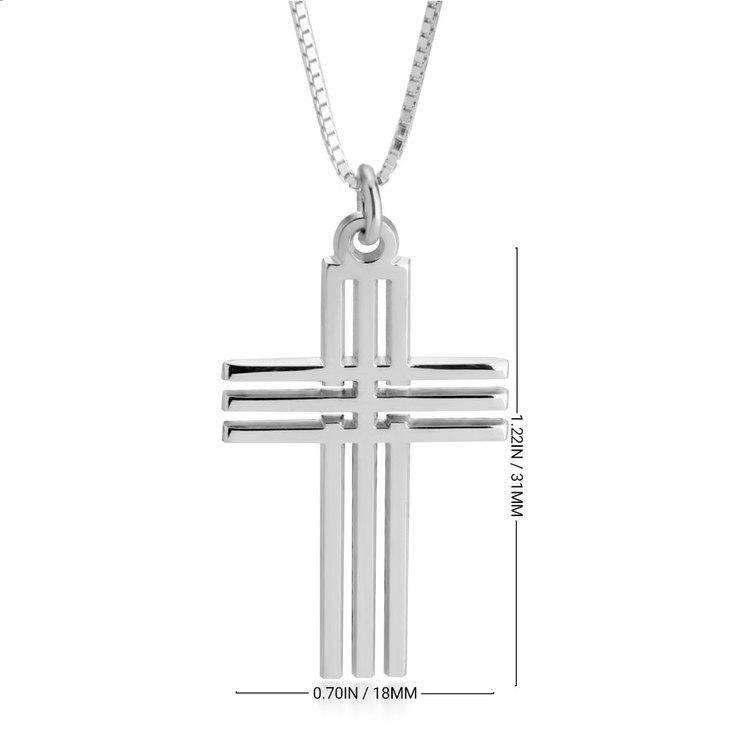 Mens Cross Necklace - Information