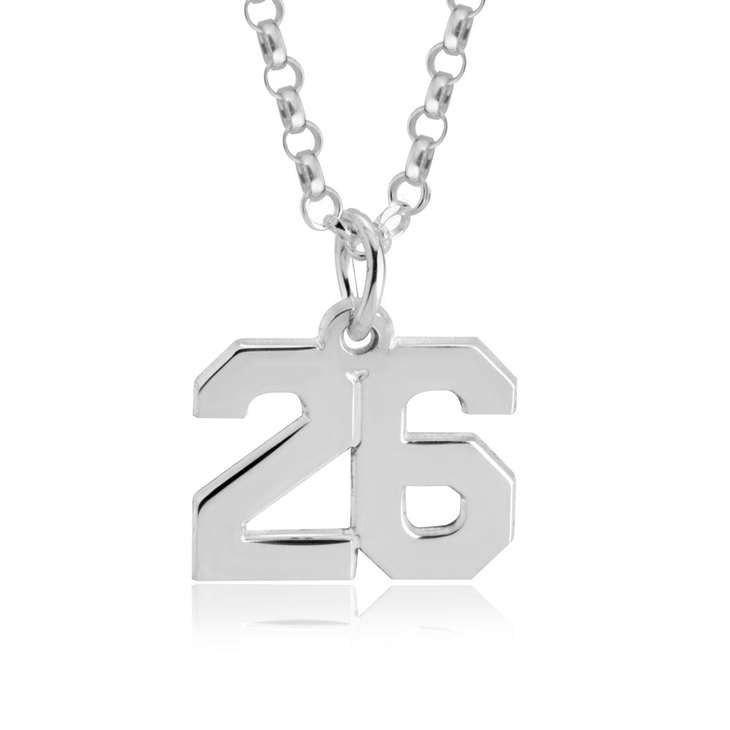 Sports Number Necklace - Picture 2