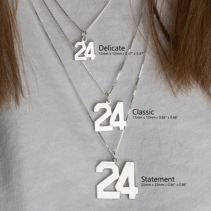Sports Number Necklace - Information