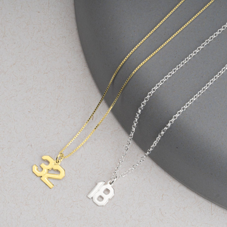 Sports Number Necklace - Model