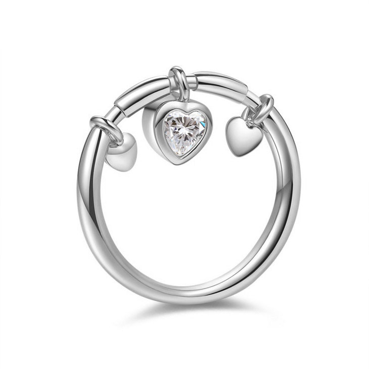 Dangling Heart Ring