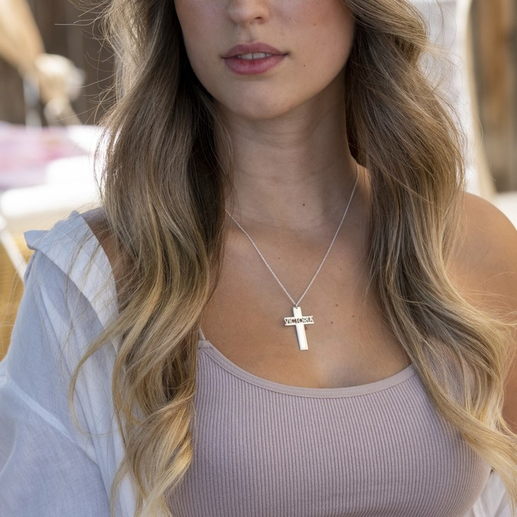 Cross Necklace Name - Model