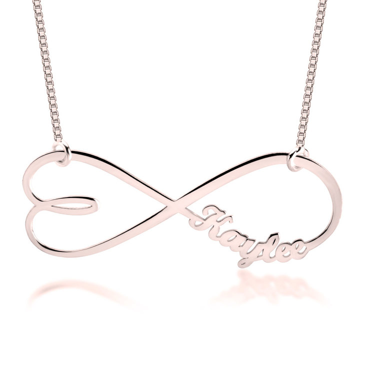 Heart Shape Infinity Name Necklace