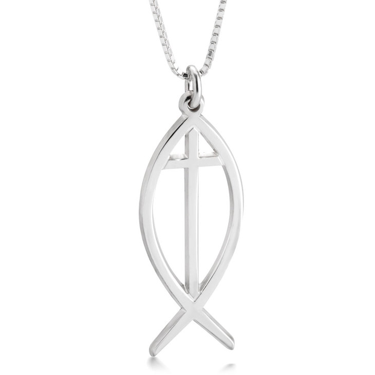 Cross Fish Necklace