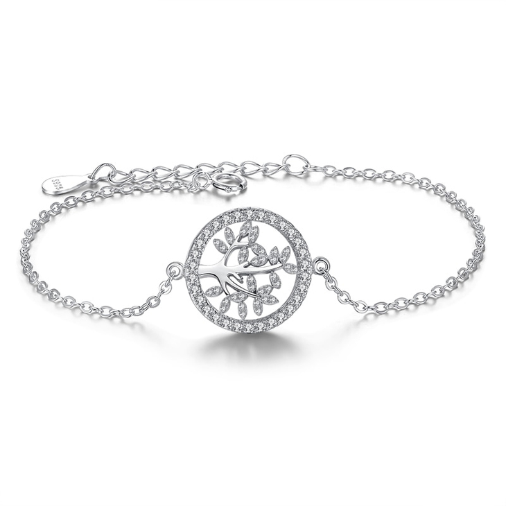 Family Tree Bracelet with Zirconia