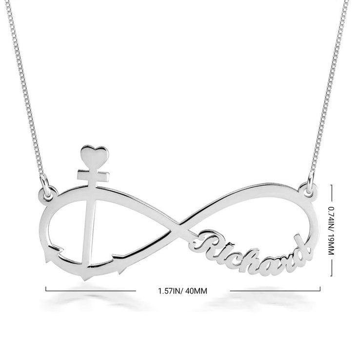 Anchor and Infinity Necklace - Information