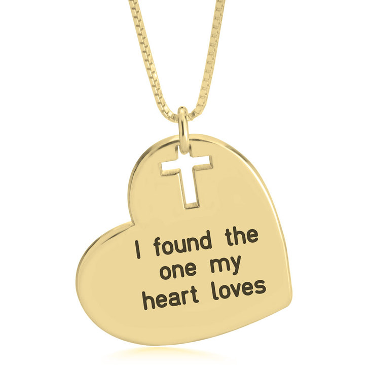 Heart and Cross Necklace