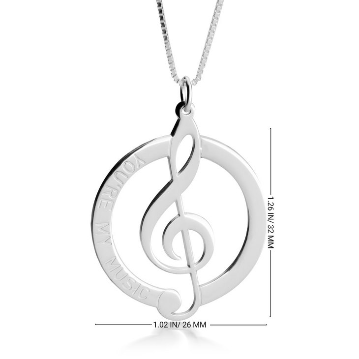 Music Note Pendant - Information