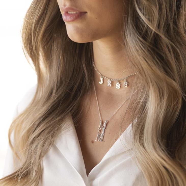 Choker Name Necklace - Model