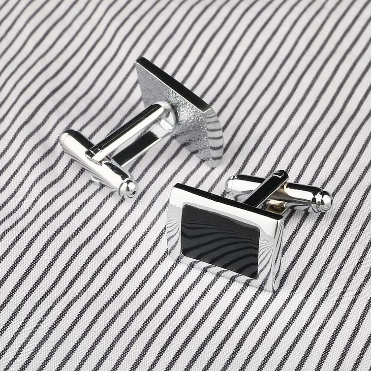 Black Cufflinks for Men - Picture 2