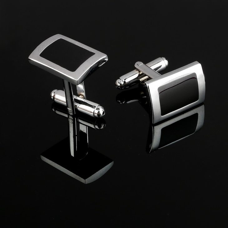 Black Cufflinks for Men - Picture 3
