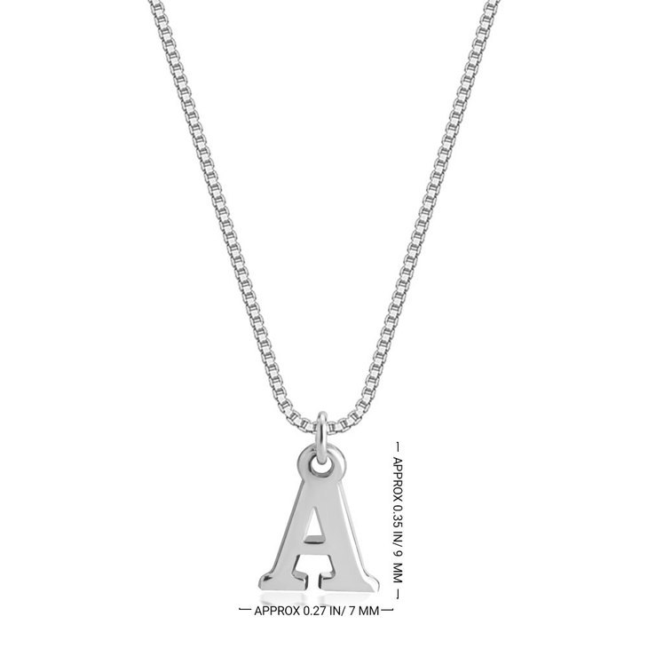 Capital Initial Letter Necklace - Information