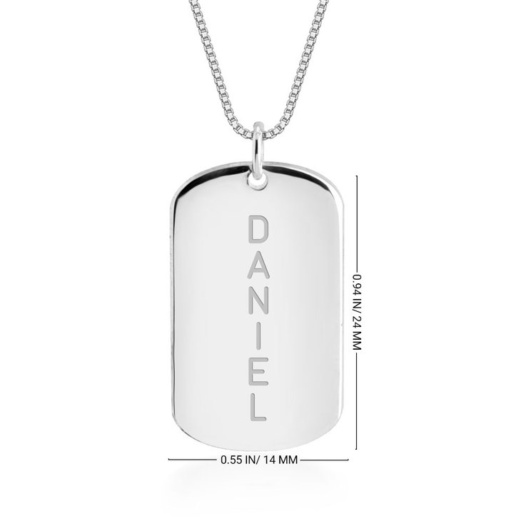 Personalized Name Bar Necklace - Information
