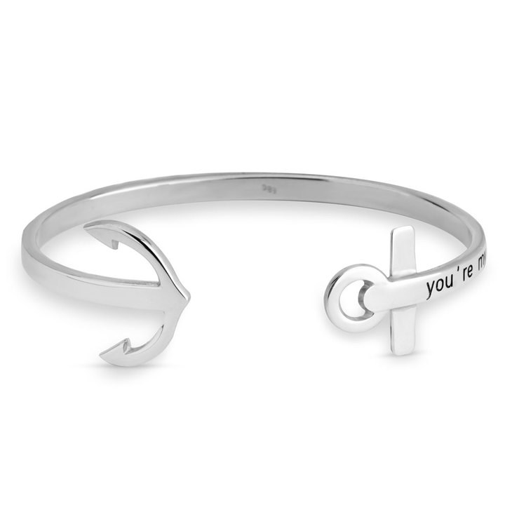 Personalized Anchor Bangle