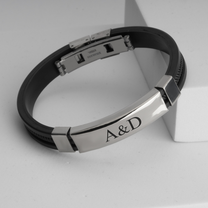 Engraved Bracelet for Men - Picture 2