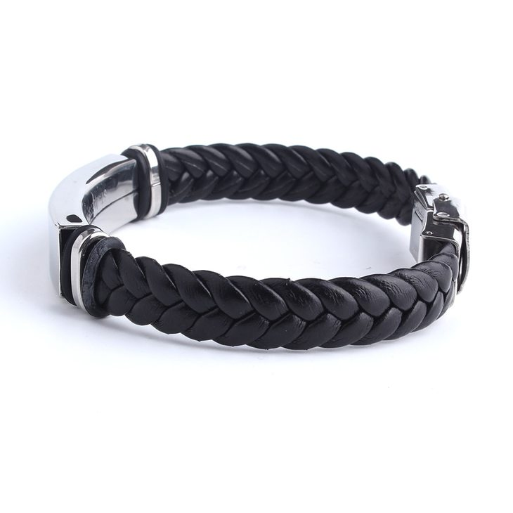 Mens Leather Bracelet - Picture 2