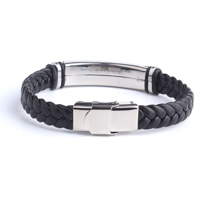 Mens Leather Bracelet - Picture 3