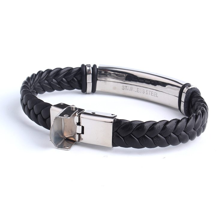Mens Leather Bracelet - Picture 4