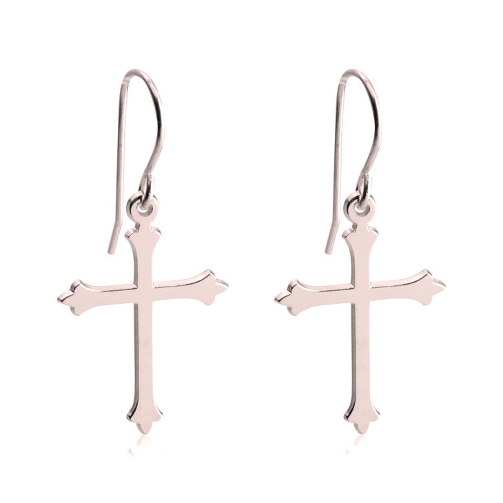 Gothic Cross Earrings