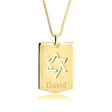 Star of David Shield Necklace