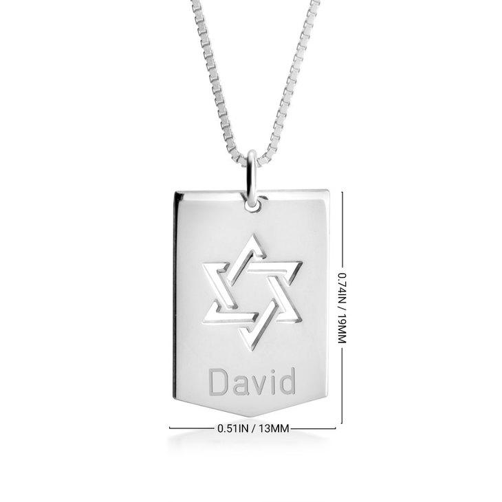 Star of David Shield Necklace - Information