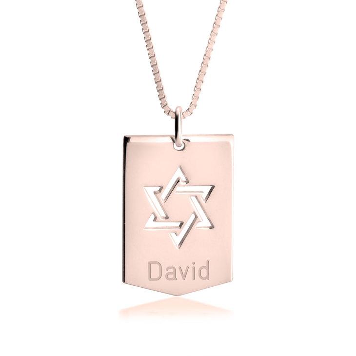 Star of David Shield Necklace