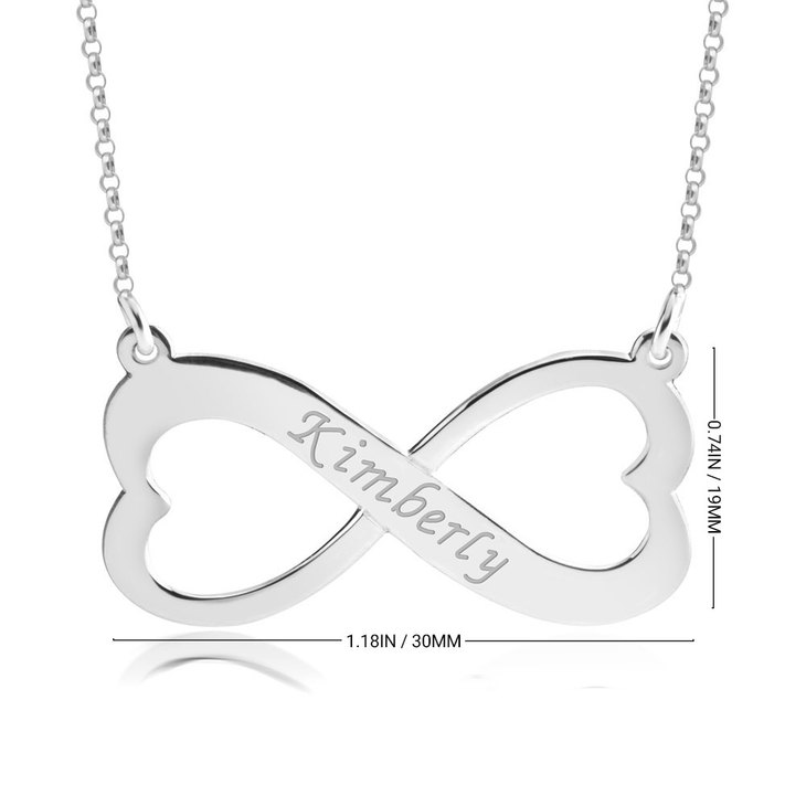 Engraved Heart Infinity Necklace - Information