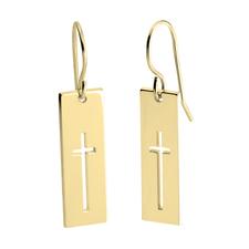 Cross Bar Earrings