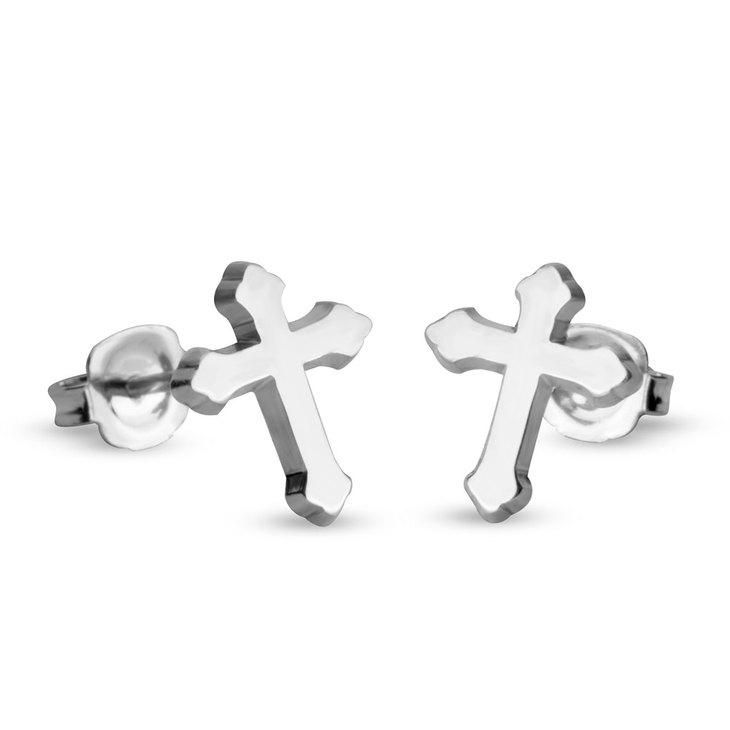 Gothic Cross Stud Earrings