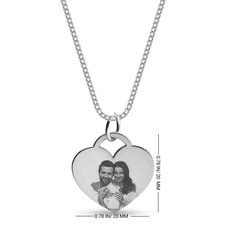 Collar de Corazón con Foto - Information
