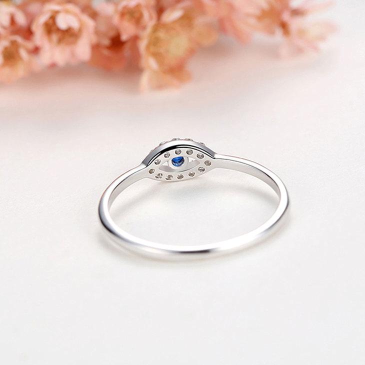 Turquoise Evil Eye Ring - Model
