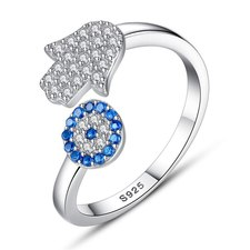 Hamsa - Evil Eye Ring