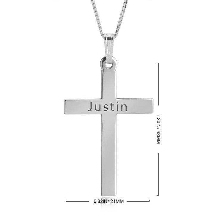 Delicate Engraved Cross Necklace - Information