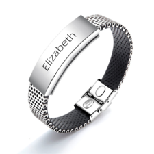 Men Stainless Steel Personalised Bracelet