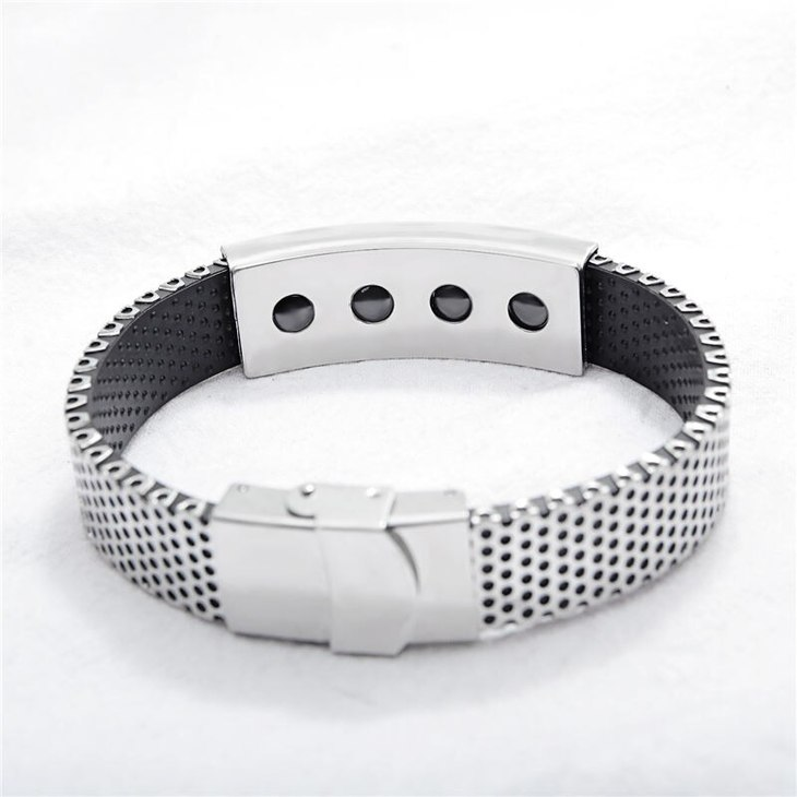 Men Stainless Steel Personalized Bracelet - Picture 2