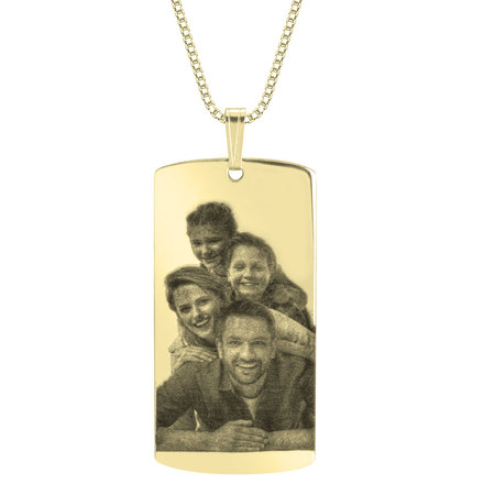 Dog Tag Picture Necklace