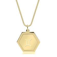 Collier Horoscope Hexagonal