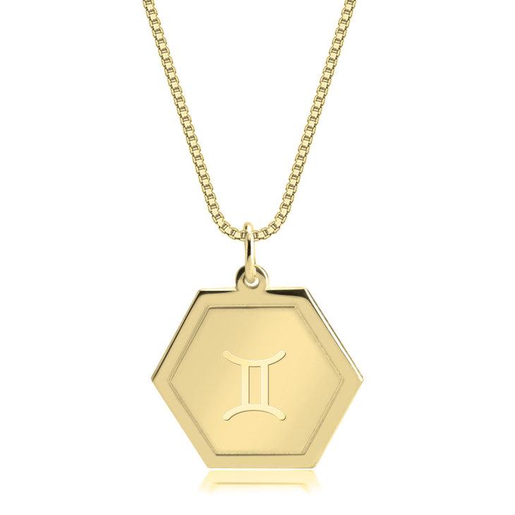 Hexagon Zodiac Pendant