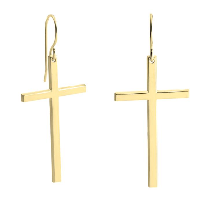 Big Cross Earrings