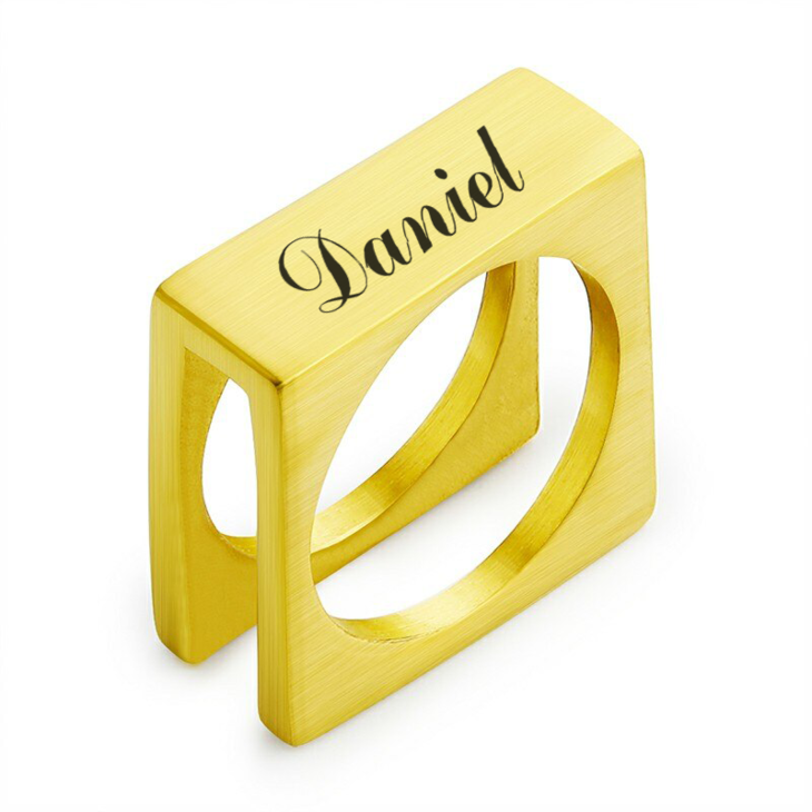 Personalized Cube Ring