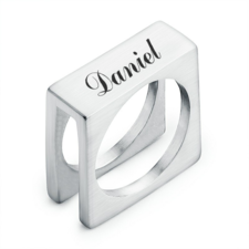 Personalised Cube Ring