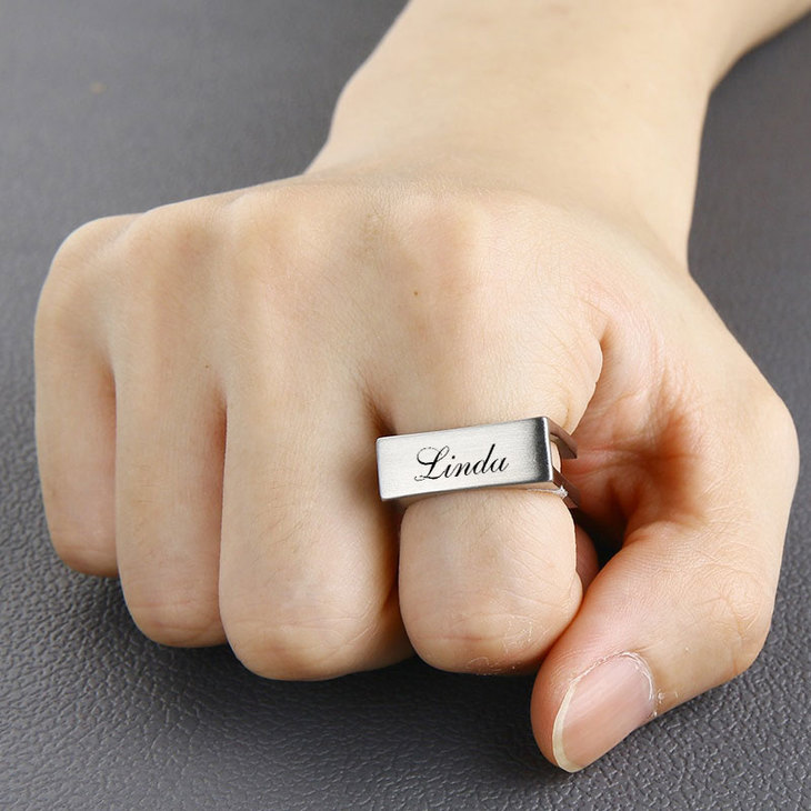 Personalized Cube Ring - Model