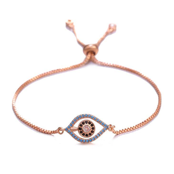 Delicate Evil Eye Bracelet