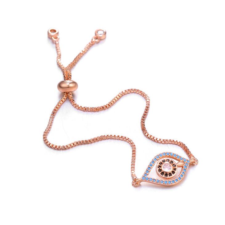 Delicate Evil Eye Bracelet - Picture 2