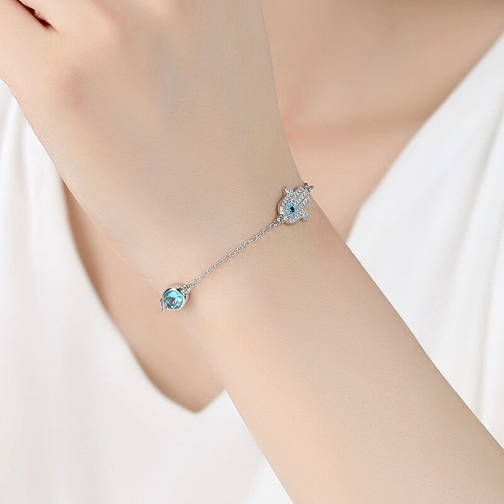 Turquoise Hamsa Bracelet - Model