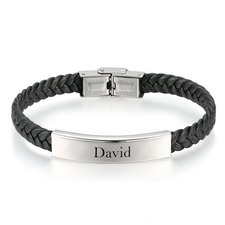 Twisted Leather Men Bracelet